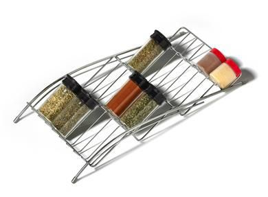 In-Drawer Chrome Wire Spice Rack