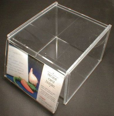 Acrylic Recipe Box for 700 4 x 6 in. Cards