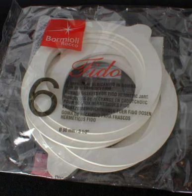 Fido 90 mm Rubber Gaskets, 6 Pack