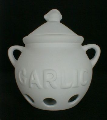 Unglazed Ceramic Garlic Keeper