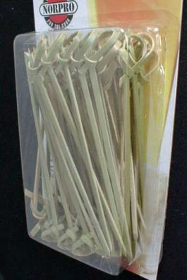 Bamboo Knot Picks, 50 Pack