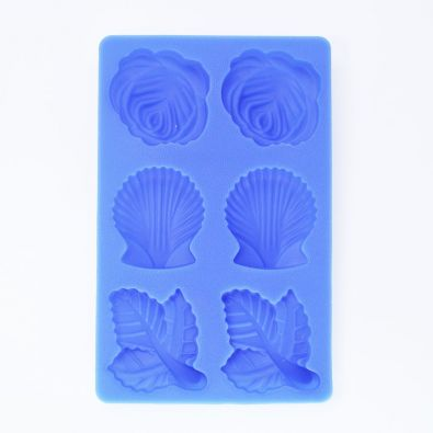 Silicone Butter Mold Rose Shell Leaf