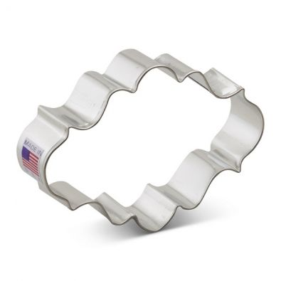 Oval Plaque Cookie Cutter 7753A