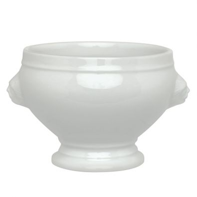 HIC White Porcelain Lions Head Soup Bowl