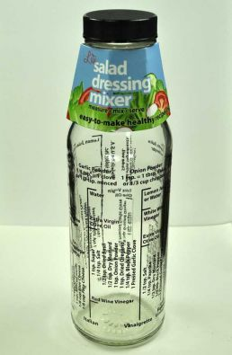 Kolder's Glass Salad Dressing Mixer Bottle, Lite Dressings