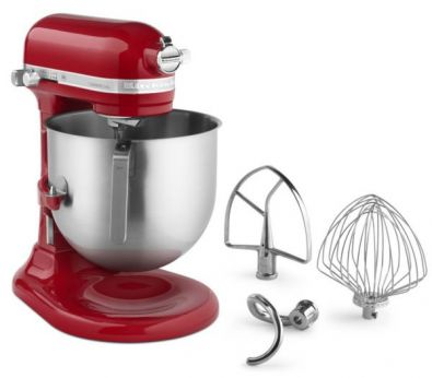 KitchenAid NSF Certified Commercial Series 8-Qt Bowl Lift Stand Mixer Empire Red KSM8990ER