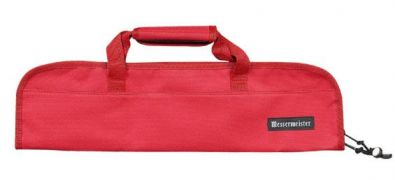 Messermeister Red Padded 5 Pocket Knife Bag