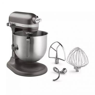 KitchenAid NSF Certified Commercial Series 8-Qt Bowl Lift Stand Mixer Dark Pewter KSM8990DP