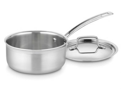 Cuisinart MultiClad Pro Stainlesss Steel 1.5 Quart Saucepan With Lid