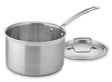 Cuisinart MultiClad Pro Sauce Pan with Lid, 4 Quart