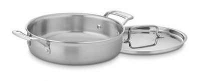 Cuisinart MultiClad Pro Stainless Steel 3 Quart Casserole Pan With Lid