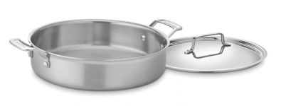 Cuisinart MultiClad Pro Stainless Steel 5.5 Quart Casserole Pan With Lid