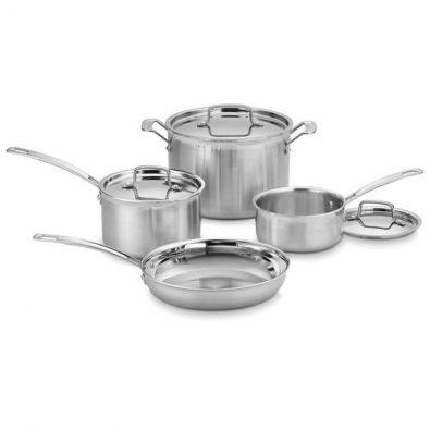 Cuisinart MultiClad Pro Stainless Steel 7 Piece Cookware Set