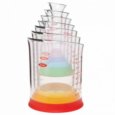 Oxo Good Grips 7 Piece Liquid Measuring Beakers Set