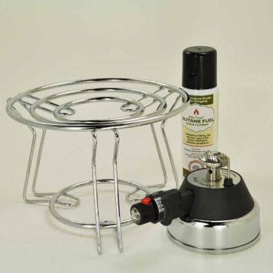Bella Tavola Fondue and Chafer Burner with Platform and Butane Fuel