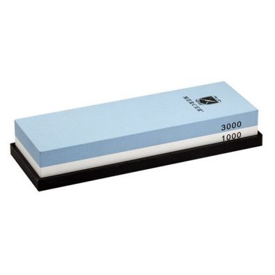 Mercer 1000 and 3000 Combination Sharpening Stone with Silicone Base
