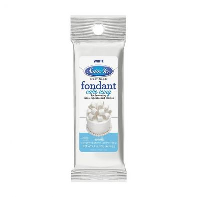 Satin Ice Rolled Fondant 4-Oz White Vanilla