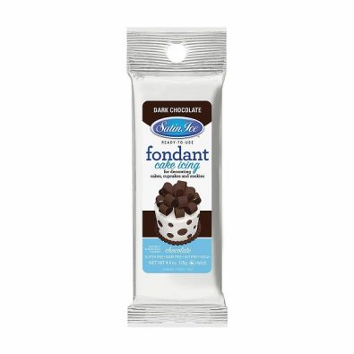 Satin Ice Rolled Fondant 4-Oz Dark Chocolate
