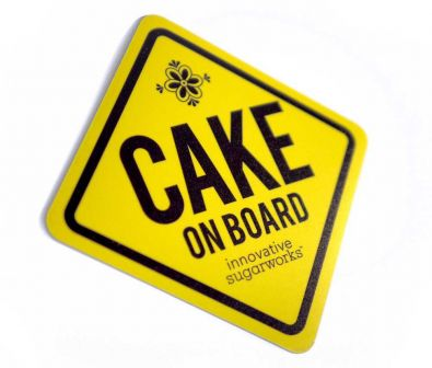 Innovative Sugarworks Cake On Board Magnetic Sign
