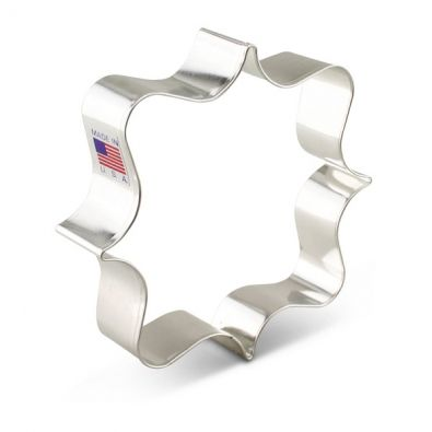 Fancy Square Plaque Cookie Cutter 7653A