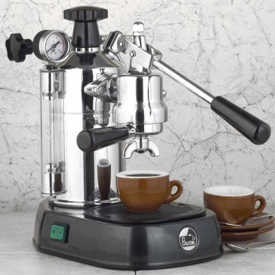 La Pavoni Professional PBB-16 Chrome-Black 16-Cup Lever Espresso Machine