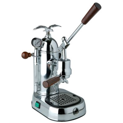 La Pavoni Romantica Professional PGL-16 Chrome-Wood 16-Cup Espresso Machine