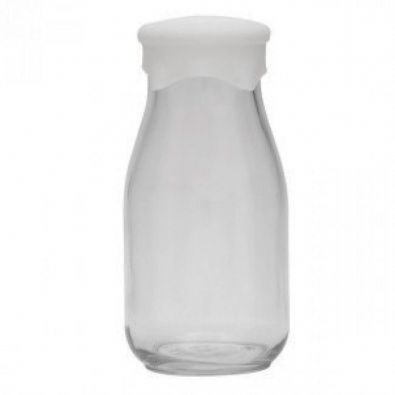 Anchor Hocking Milk Bottle with Silicone Lid 16-Oz