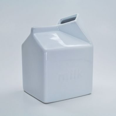Porcelain Milk Carton Cream Server 9-Oz
