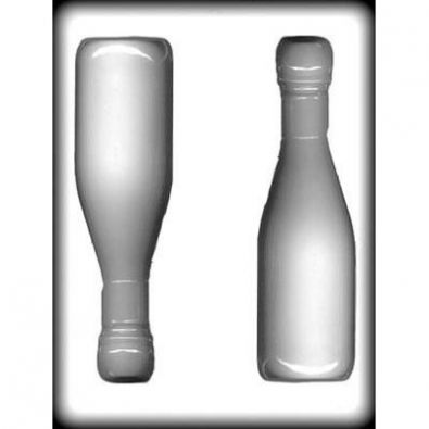 CK Champagne Bottle Hard Candy Mold 7-Inch