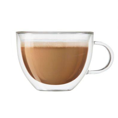 Oggi Brew Insulated Glass Cappuccino Cup Set of 2