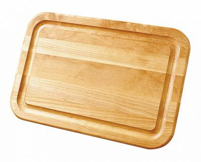 Reversible Wood Cutting Board With Moat 16x11