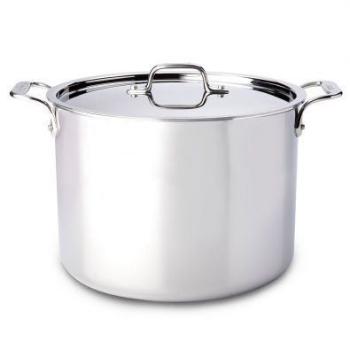 All-Clad Stainless Steel 12 Quart Stock Pot With Lid