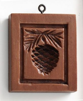 House on the Hill Pine Cone Springerle Mold