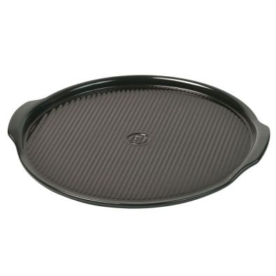 Emile Henry Round Pizza Stone 14.5-In Charcoal