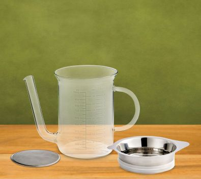 HIC Glass 4-Cup Fat Separator With Gravy Strainer
