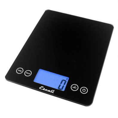 Escali Arti XL Glass Kitchen Scale Black