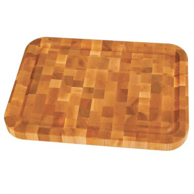 Catskill Reversible End Grain Chopping Block with Groove 16x12