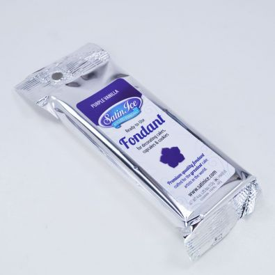 Satin Ice Rolled Fondant 4-Oz Purple Vanilla