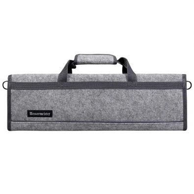 Messermeister Felt Knife Roll 8-Pocket Heather Gray