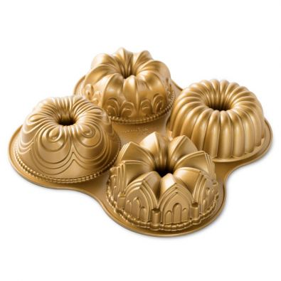 Nordic Ware 70th Anniversary Gold Quartet Bundt Pan 9-Cup