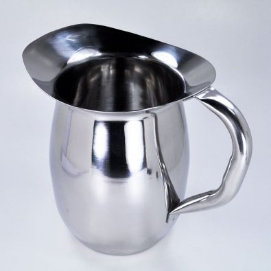 Winco Stainless Steel Deluxe Bell Pitcher 2-Qt
