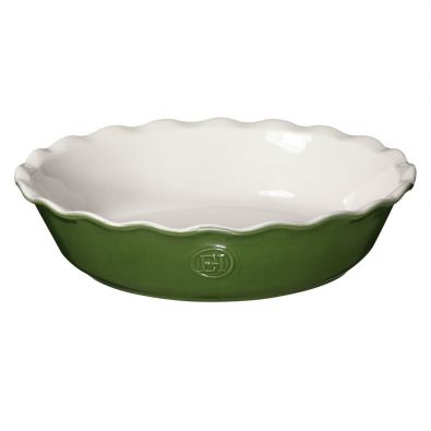 Emile Henry Modern Classic Pie Dish 9-In Spring Green