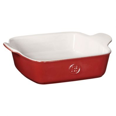 Emile Henry Modern Classic Square Baking Dish 8x8-In Rouge