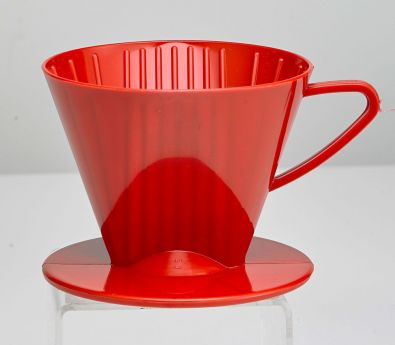 #2 Cone Plastic Coffee Filter Holder Red
