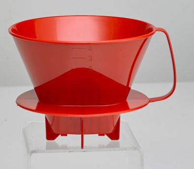 #4 Cone Plastic Coffee Filter Holder For Carafes Red