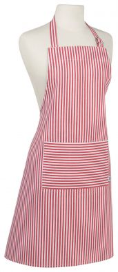 Red Narrow Stripe Apron, Now Designs Chef Collection