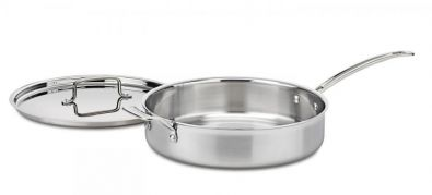 Cuisinart MultiClad Pro Stainless Steel 5.5 Quart Saute Pan With Lid