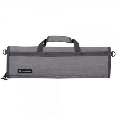 Messermeister Padded Knife Roll 8-Pocket Gray Denim