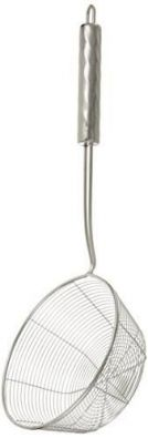 ExcelSteel Long Handled Stainless Steel 6 Inch Wire Strainer
