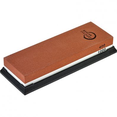 Mercer 400 and 1000 Combination Sharpening Stone with Silicone Base